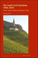 The South Tyrol Question, 1866–2010