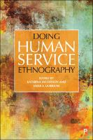 Doing Human Service Ethnography